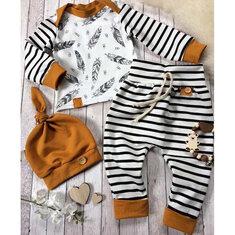3Pcs Baby Romper Pantaloni Set per 0-24 mesi