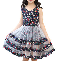 Robe de princesse décontractée Flower Girls 4Y-15Y