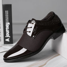 Männer stilvolle aushöhlen Cap Toe formale Schuhe