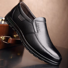 Men Genuine Leather Casual Driving Shoes