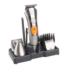 KM-580A Multifunctional Rechargeable Hair Grooming Trimmer Clipper Bear Ear Razor Shaver Kit