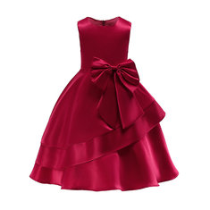 Girls Sleeveless Formal Dress For 3Y-13Y