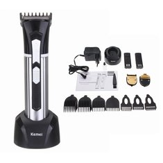 Kemei KM-3007 3 en 1 hombres Electric recargable pelo Trimmer Barba Shaver Clipper Groomer