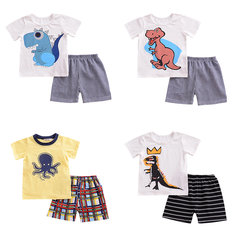 2Pcs Cartoon Boys Clothing Set