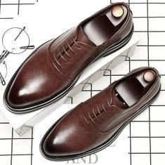 Chaussures habillées en cuir à couture