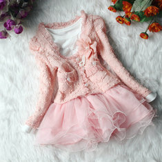 2Pcs Lace Girls Lolita Set Para 1-5 Anos