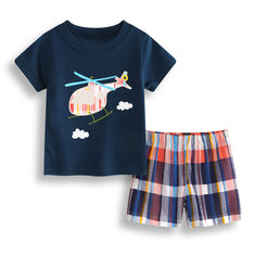 Helicopter Baby Boys Short Set For 0-36M