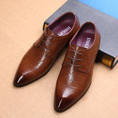 Chaussures habillées décontractées en cuir pour homme