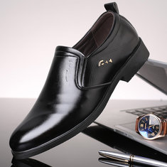 Men Leather Non-slip Business Formal Shoes