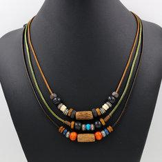 Collana bohème colorata a multi-strati