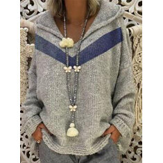 Patchwork Knit Hoodie