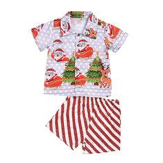 Conjunto de rayas navideñas para niños pequeños para 1-7Y