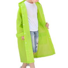 Impermeable de EVA con capucha para niños pequeños para 6-11Y