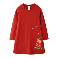 Girl's Flower Casual Dress For 1-9Y