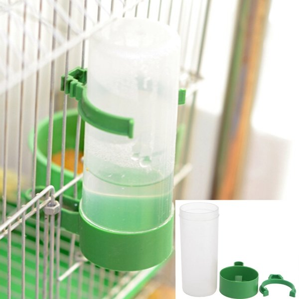 Parrot Drinker Feeder Watering Plastic With Clip For Bird Aviary Budgie Cockatiel