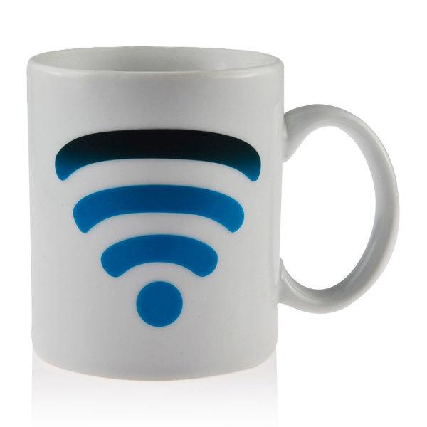 Ceramic WiFi Signal Mug Color Changing Cup Temperature Control Ceramic Cup