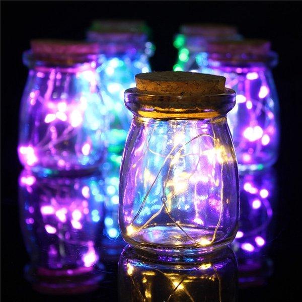 रोमांटिक क्रिसमस 10 एलईडी रंग बीज वेस लाइट्स वेडिंग सेंटरपीस फेयरी लाइट्स होम सजावट