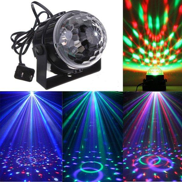 Mini RGB LED Party Disco Club DJ Light Crystal Magic Ball Effect Stage Lighting