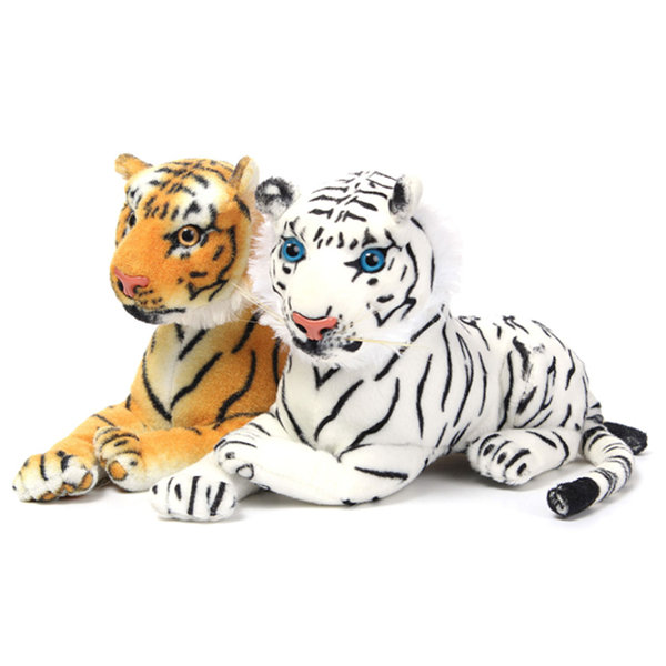 30cm Yellow White Plush Tiger Shaped Cute Pillow Home Sofa Party Decor Toys Gift