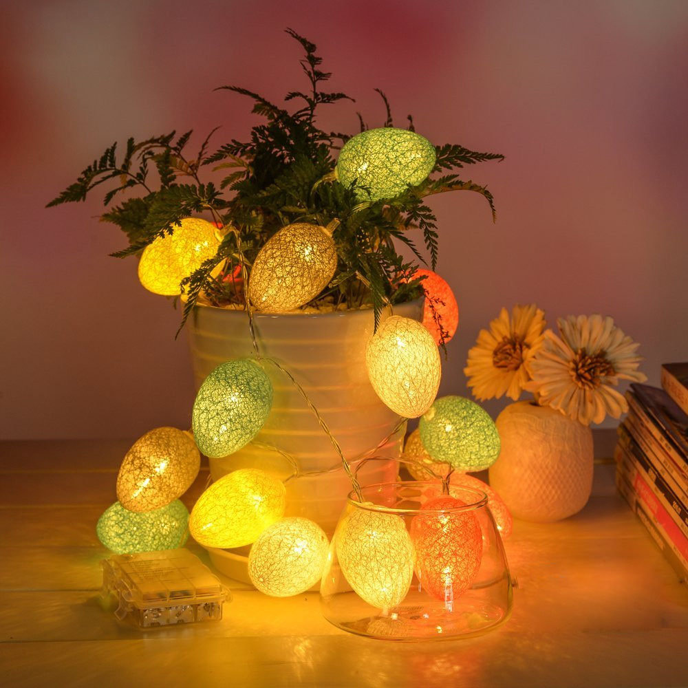 1.8 متر 10 LED قطن أضواء بيضة عيد الفصح LED أضواء خيالية لمهرجان عيد الميلاد والهالوين