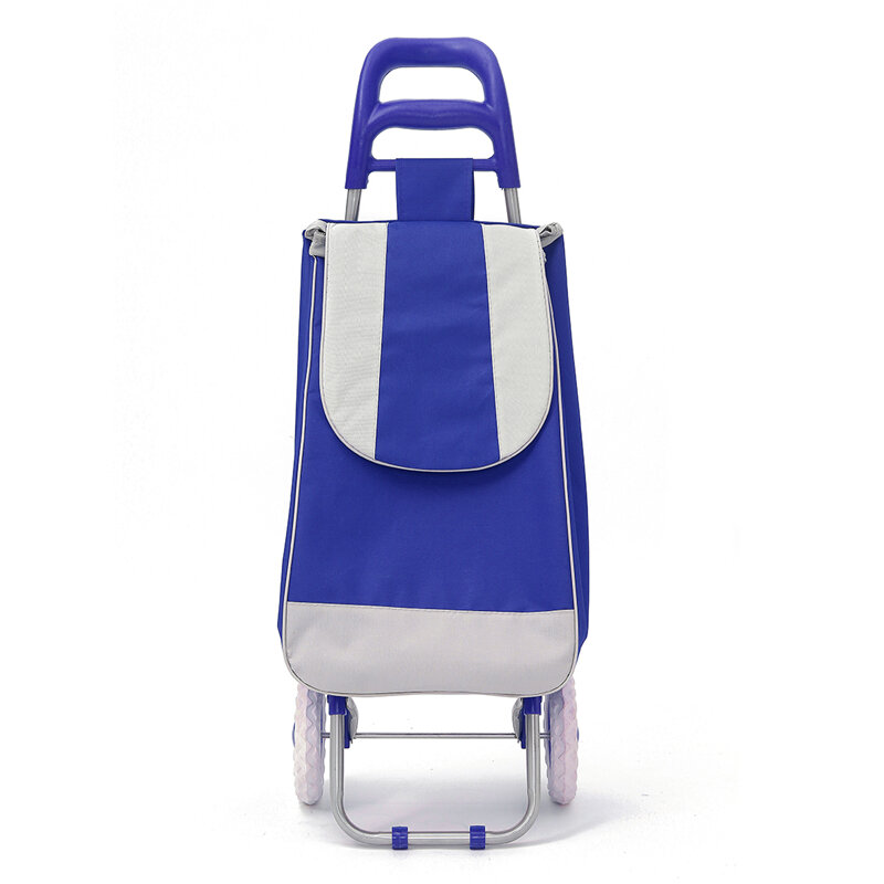IPRee® Oxford Large Shopping Trolley Bag On Wheels Push Tote Foldable Grocery Luggage