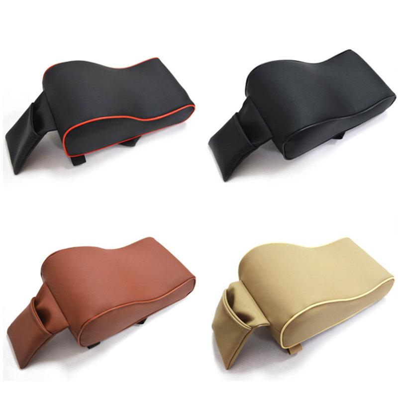 ユニバーサルPUレザー車のアームレストパッド低反発ユニバーサル自動アームレストカバー電話ポケット付き