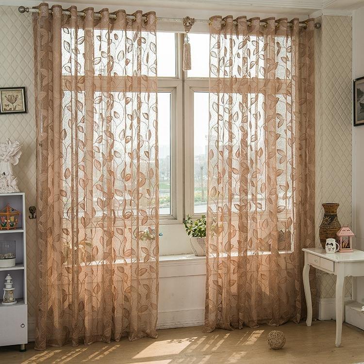 Двухпанельные дышащие полупрозрачные вуаль прозрачные шторы для спальни, гостиной, окна, скрининга