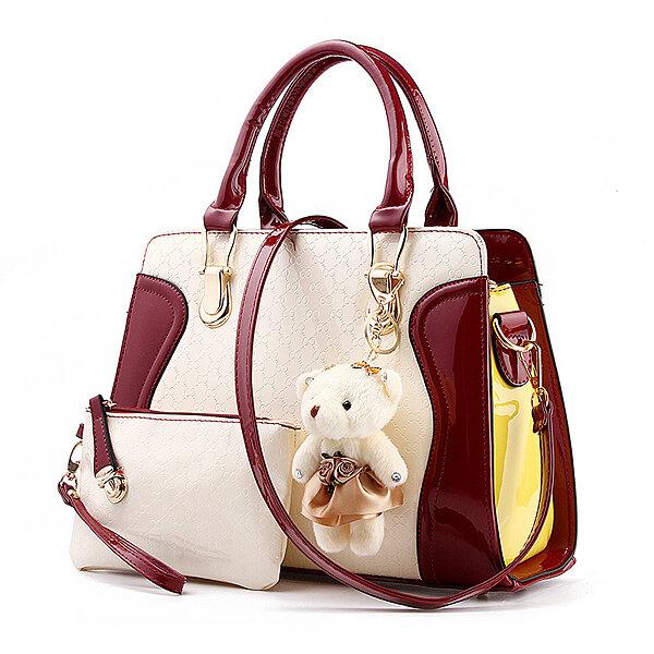 Women Elegant Handbag Cute Bear Shoulder Bag Casual Leisure Crossbody Bag