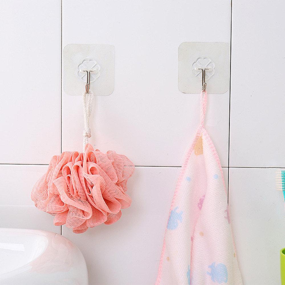 Honana HN-31 6 Pcs crochets sur mur à ventouse forte transparente pour cuisine salle de bain