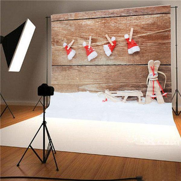 3x5ft 1.5X1m Vinyl Christmas Snow Theme Studio Photography Prop Background