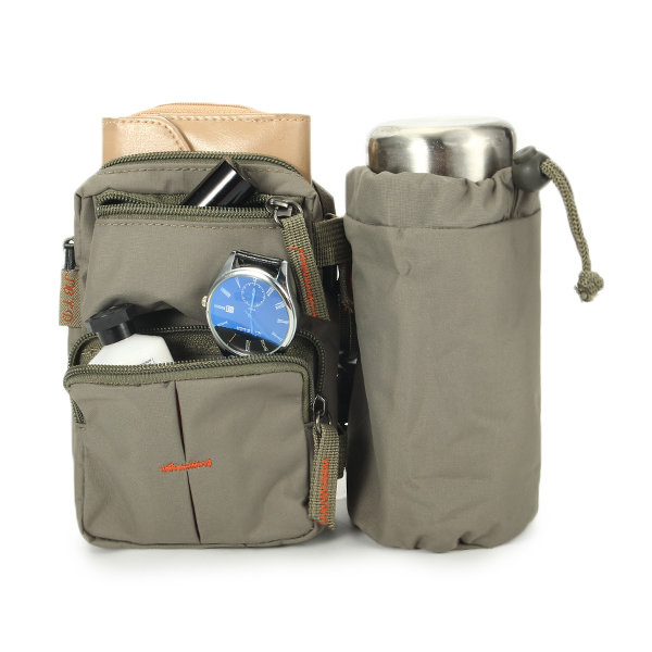 Nylon Waterproof Mini Crossbod Bag Outdoor Sport Travel Waist Bag Cellphone Pocket