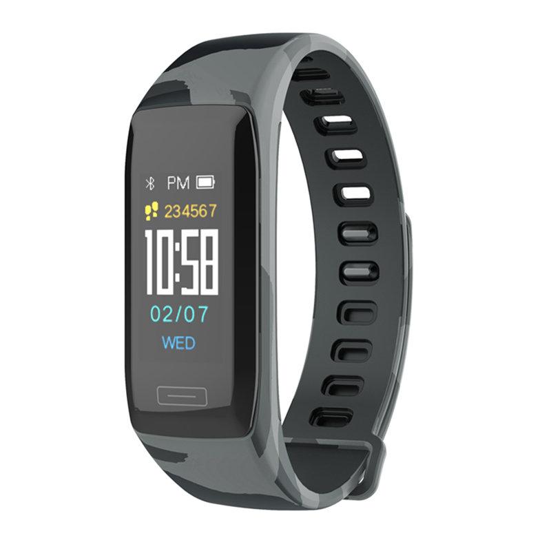 V7ダイアログ迷彩ストラップスマートブレスレット睡眠モニタートラッカースポーツ最高のフィットネススマート腕時計