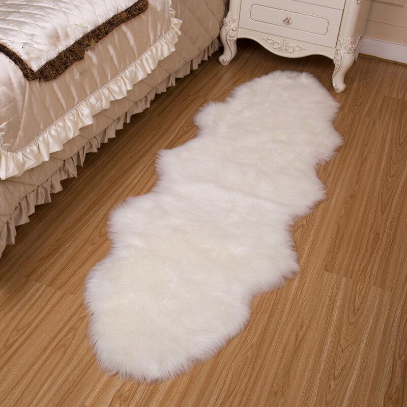 Honana WX-574 Tappeti in finta lana Tappeti per la casa Tappeti in pelliccia per camera dei bambini Soggiorno Tappeti in pelliccia calda