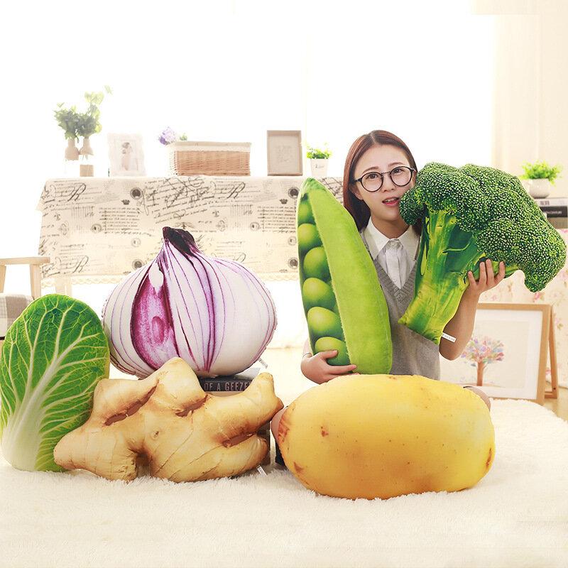 KCASA KC Creative Simulation Vegetable Pillow Broccoli Potatoes Chinese Cabbage Cushions Plush Toy