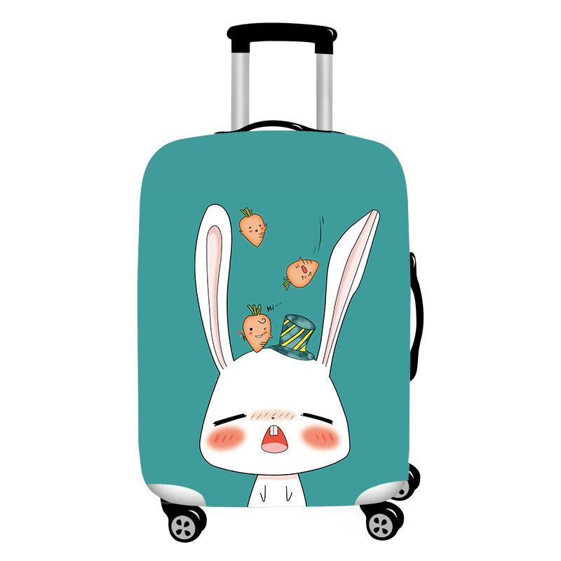 ホナナかわいい漫画のウサギの弾性荷物カバー耐久性のあるスーツケースプロテクター