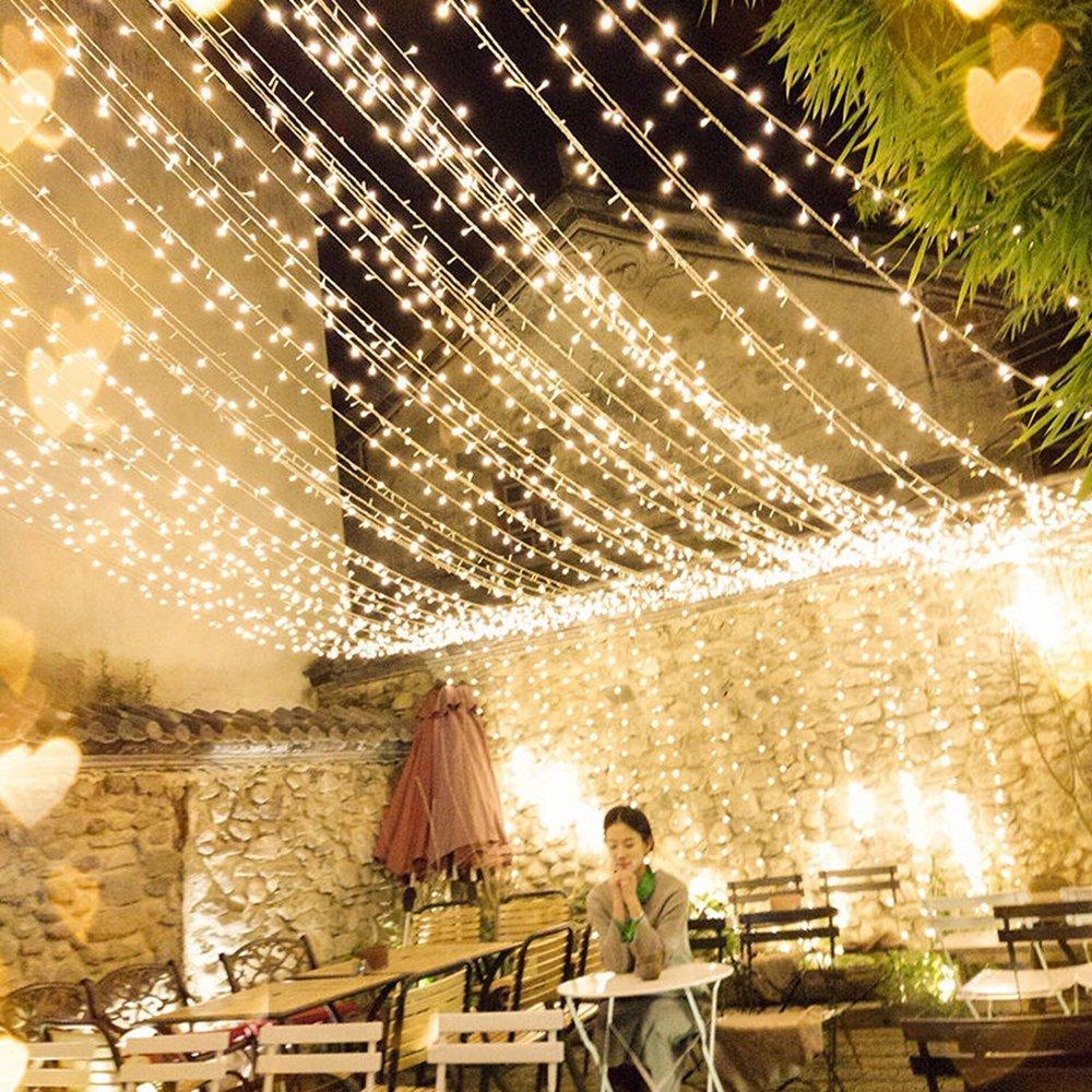 4 متر * 0.6 متر ضد للماء أبيض دافئ 96 LED سلسلة ستارة ضوء لعيد الميلاد الزفاف عطلة ديكور AC220V
