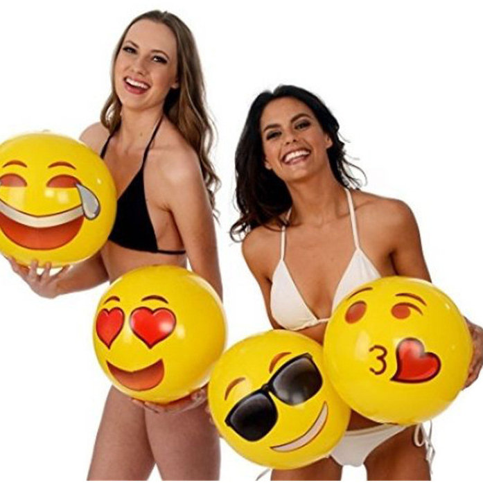 IPRee™ 30cm Faces Inflatable Beach Ball Summer Children's Outdoor Fun Water Recreation Toys