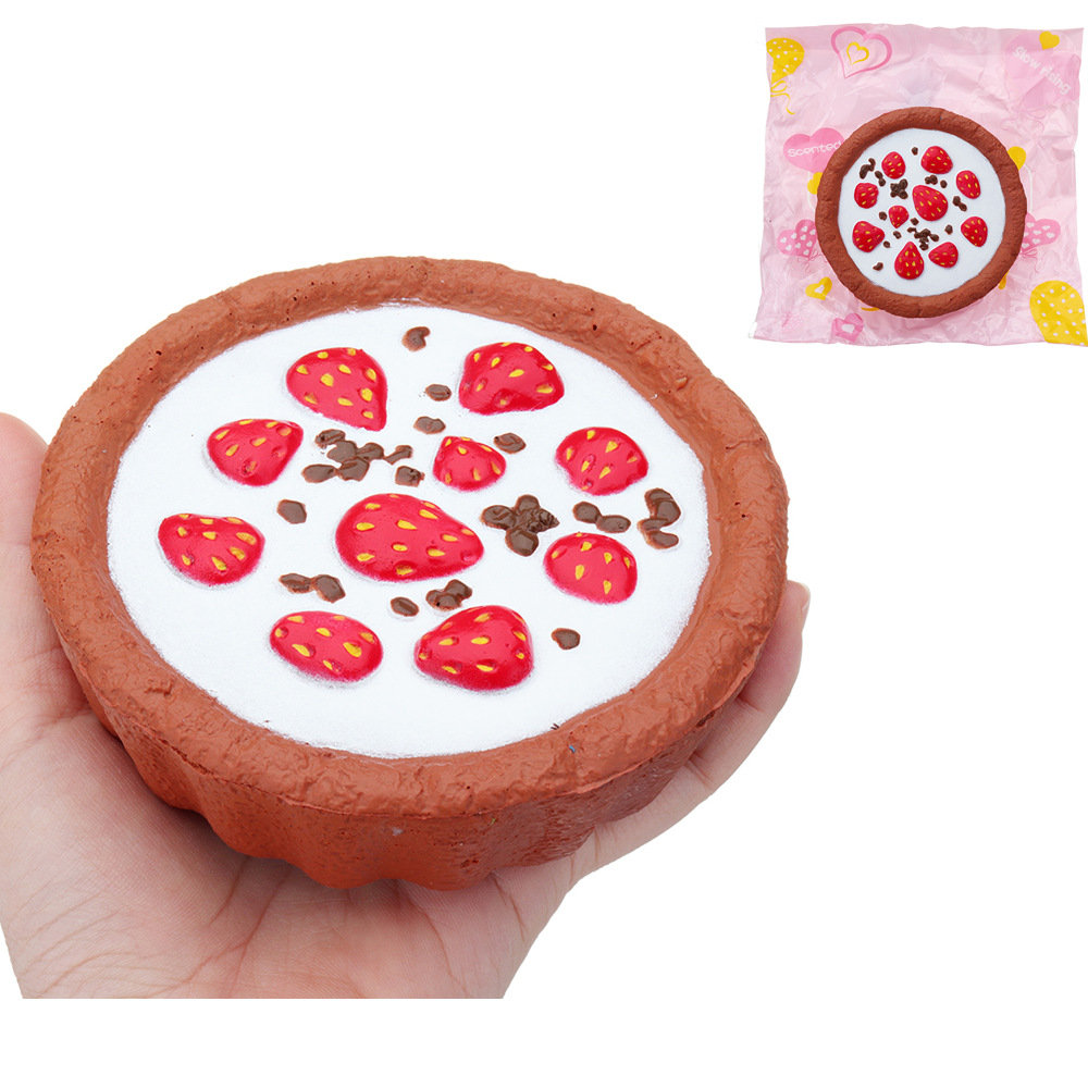 Chocolate Strawberry Cake Squishy Soft Toy Slow Rising With Packaging Collection Gift