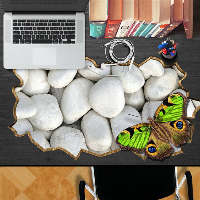 石蝶PAGステッカー3Dデスクステッカー壁デカール家の壁デスクテーブル装飾ギフト