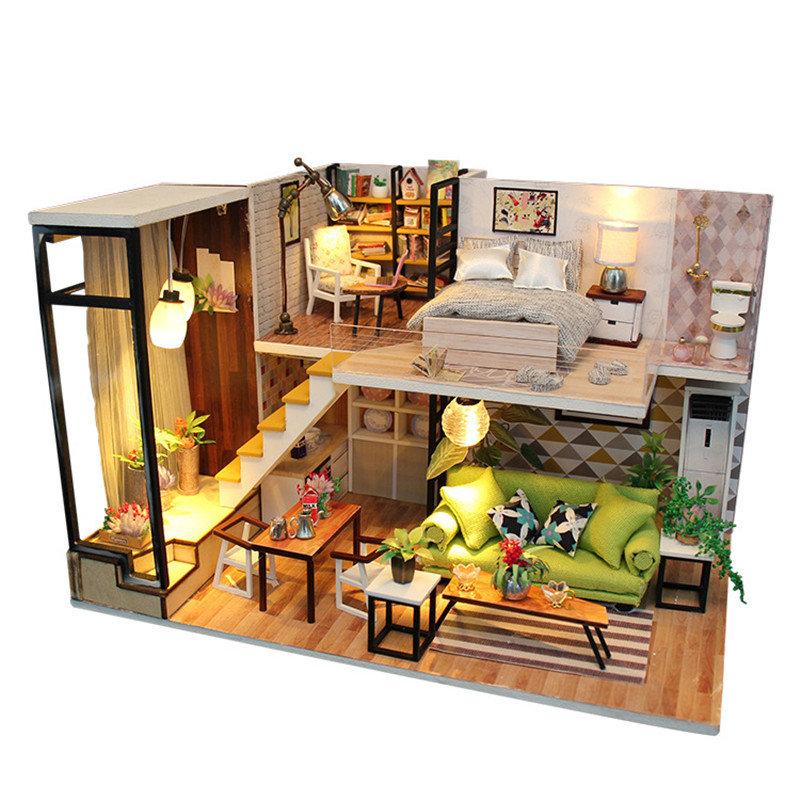 家具音楽ライトカバーミニチュア装飾おもちゃでロマンチックなヨーロッパのDIYの家をお楽しみください
