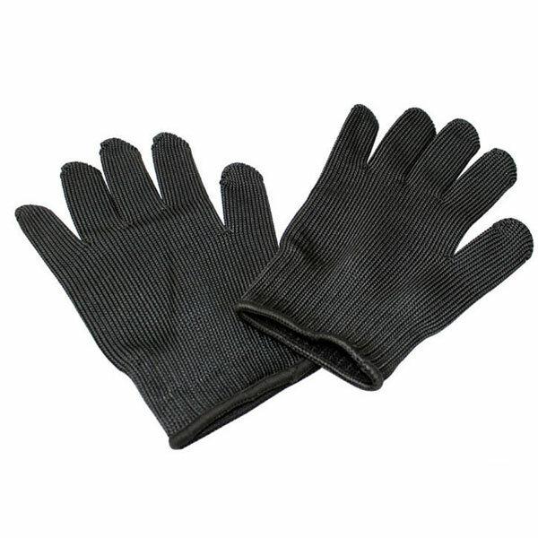 1ペアスチールワイヤー安全抗切断手袋園芸作業屋外キャンプ保護ツール