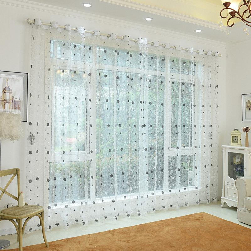 Fashion Bird Nest Voile Tenda per porta Finestra per finestra Divisorio Tenda trasparente Home Decor