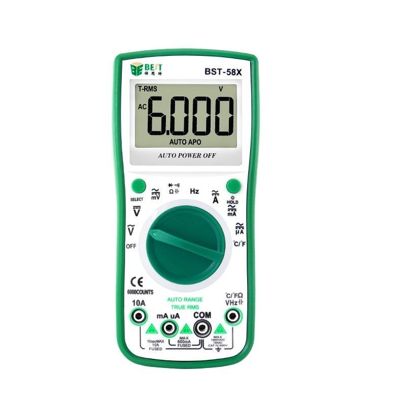 BST-58X 6000 Counts Ture RMS Digital Multimeter NCV Frequency Auto Power off AC DC Voltage Ammeter C