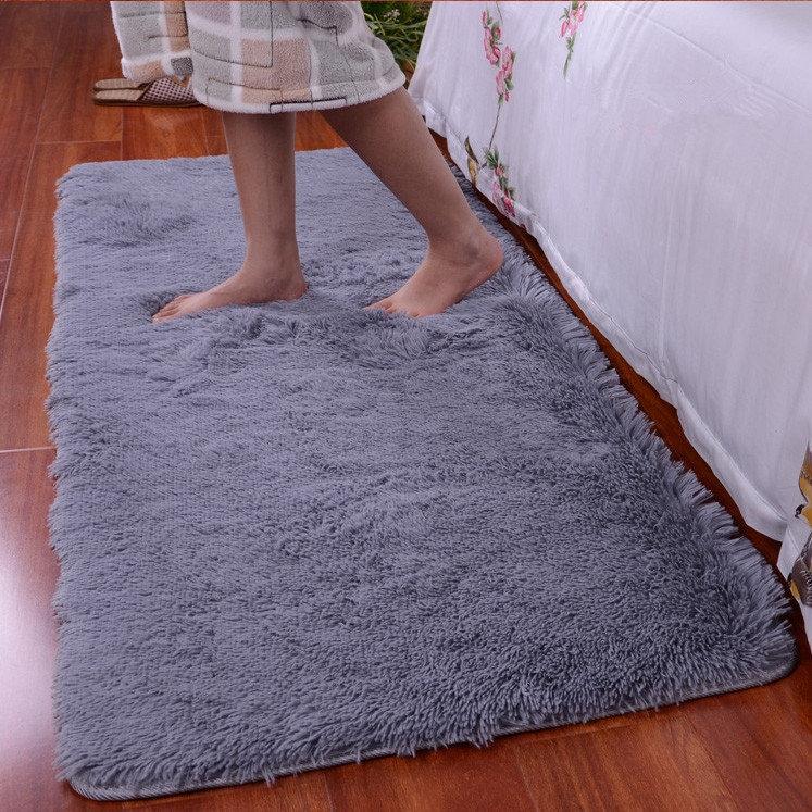 90x160cm Short Floss Boden Schlafzimmermatte Shaggy Decke rutschfeste Wohnzimmer Teppich Teppich