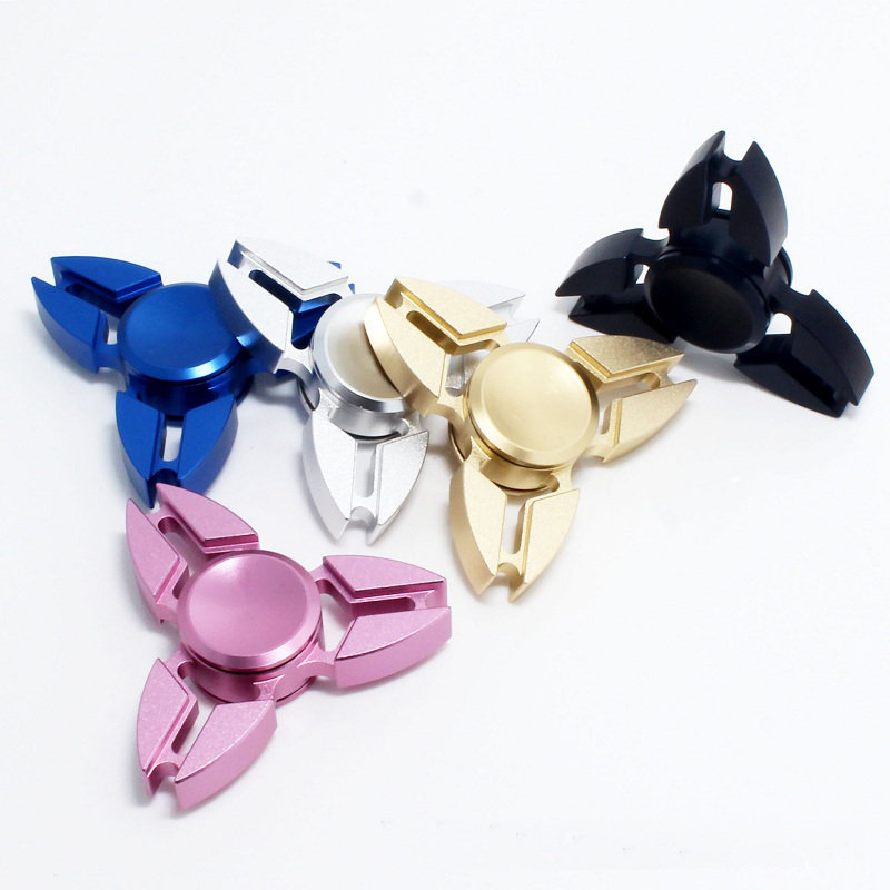 Cool Tri Fidget Hand Spinner Toy Metal Fingertips Fingers Gyro Reduce Stress Stress Reliever Toy