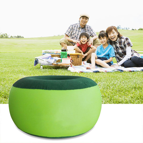 Portable Inflatable Chair Outdoor Plush Pneumatic Stool Bean Bag Round Shape Home furniture