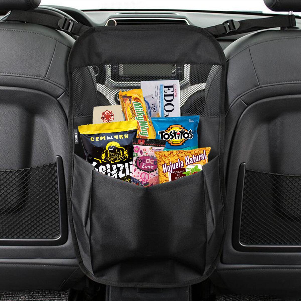 MATCC 55x38cm Car Partition Storage Bag Seat Central Storage Bag In-vehicle Storage Safety Barrier