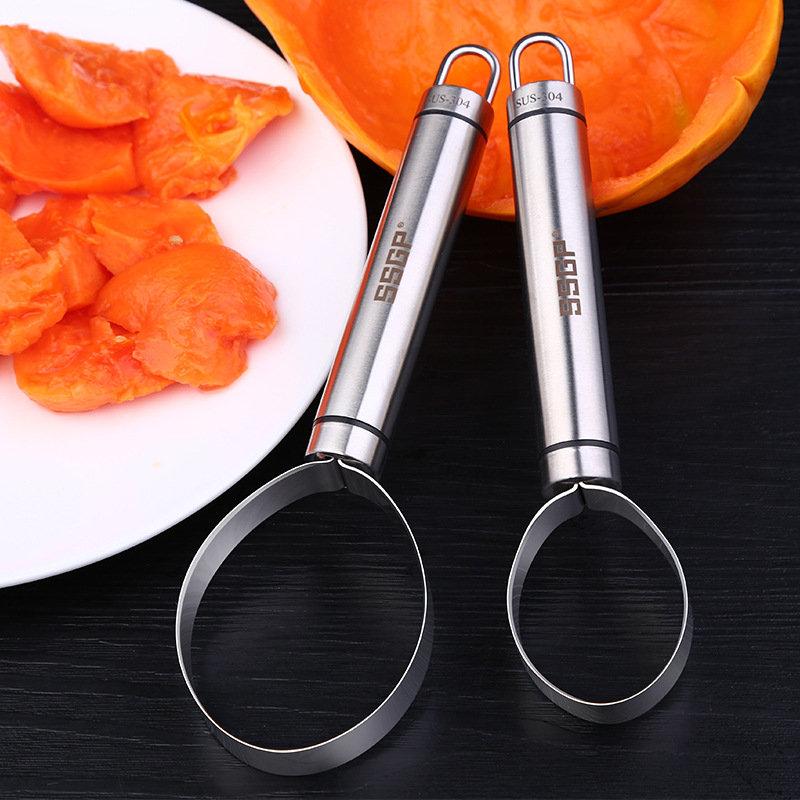 ككاسا كك-PS026 المقاوم للصدأ الخضار الفاكهة البطيخ حفرة البذور حفر اللب فاصل القطاعة القشارة