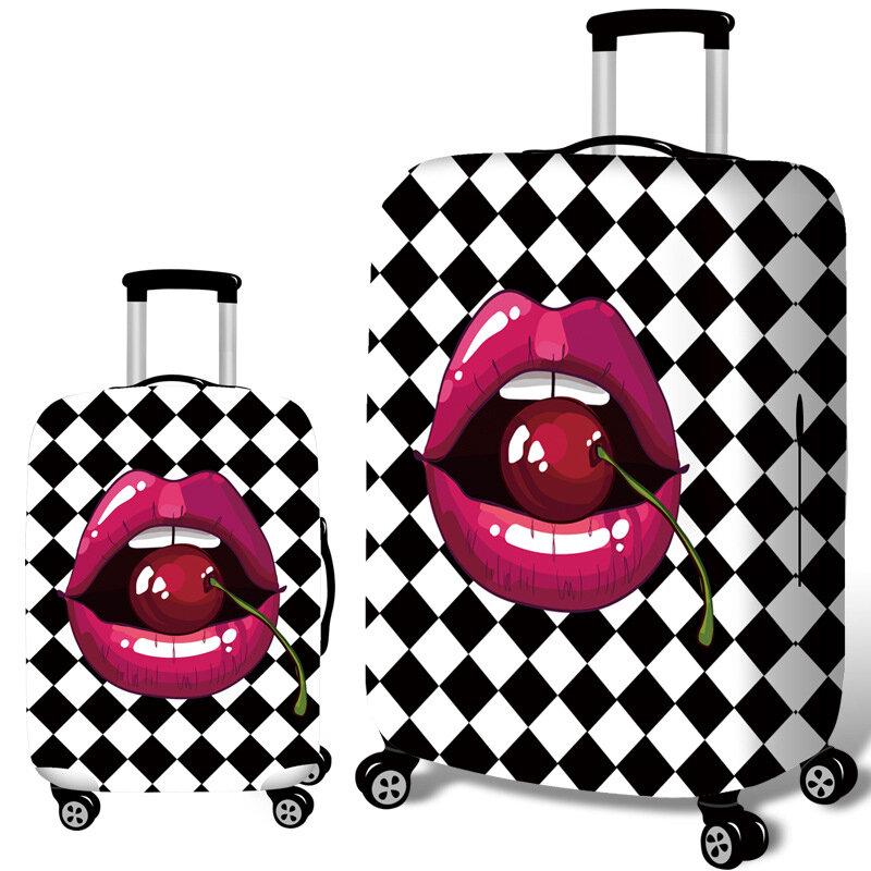 チェリー唇弾性荷物カバー耐久性のあるスーツケースプロテクター