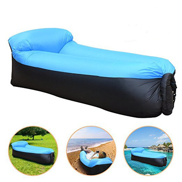 Upgraded Version Outdoor Travel Lazy Sofa Inflatable Couch Fast Air Inflatable Hammock